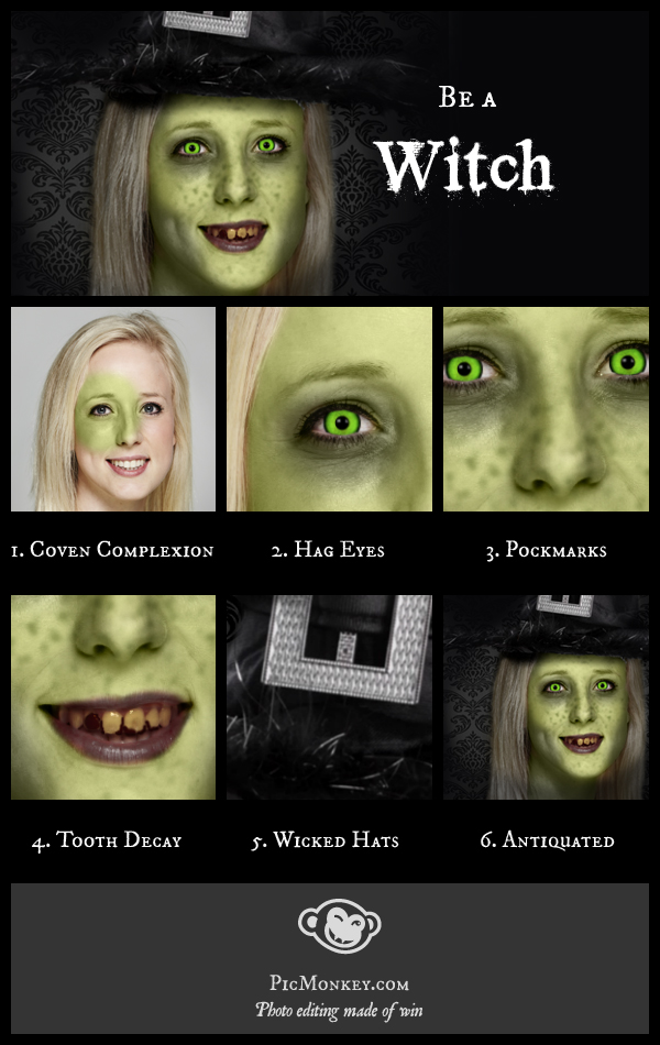 Step by step guide to witch makeovers on PicMonkey