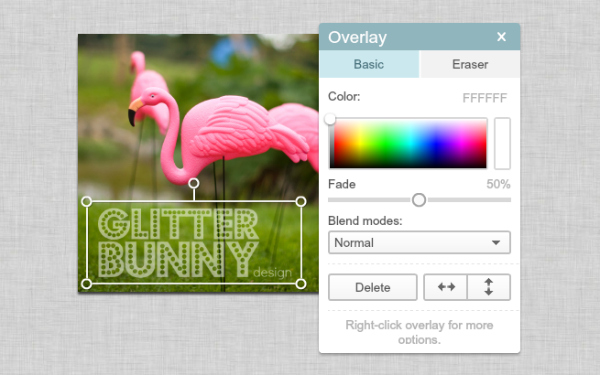 screen shot of overlay palette_watermark tutorial