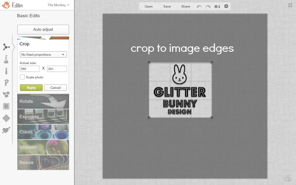 screen shot of cropping your image_watermark tutorial