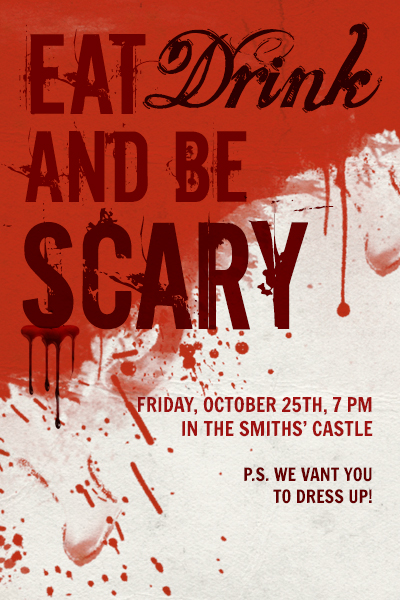 Halloween PicMonkey Blog – Scary or Horror Invitation Cards