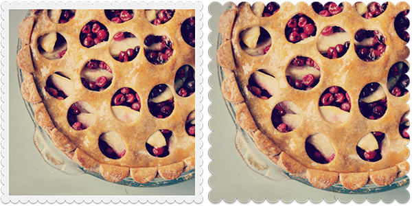 pie photos shown with two different Craft Scissors frames