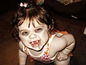 photo of a little girl vampire
