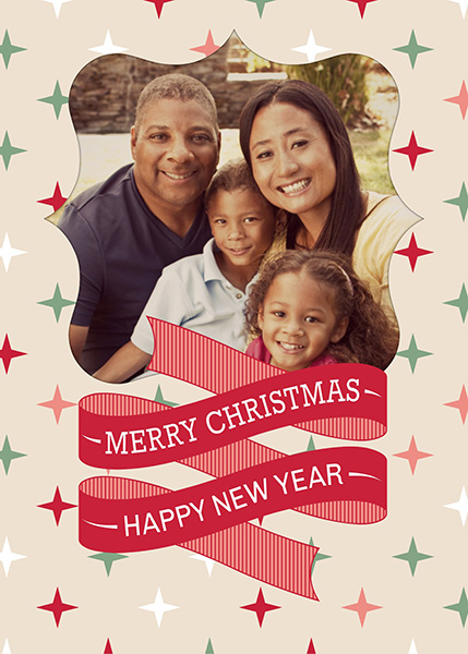 Image of holiday card using Holiday Cutouts and Season's Messages