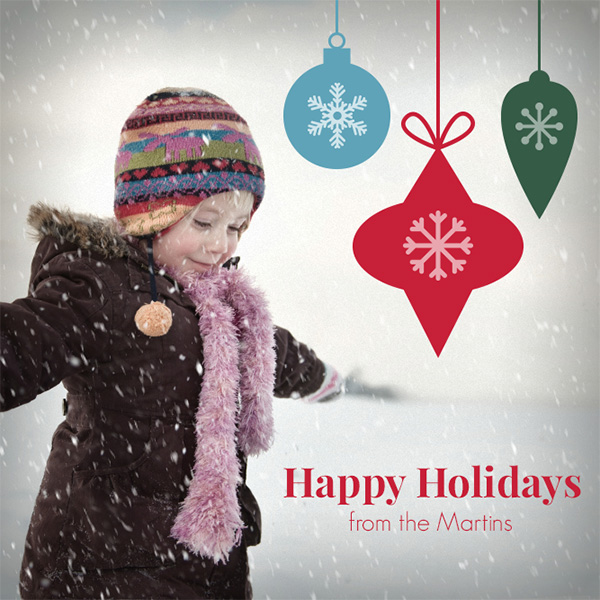 image of holiday card using Snowfall effect