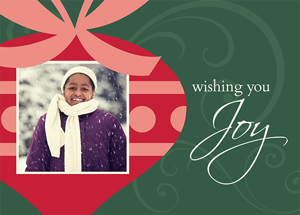 Image of holiday card using enlarged overlays