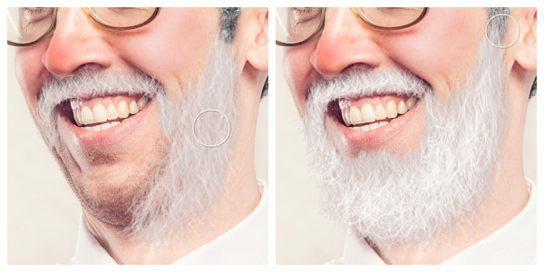Image showing Jolly Beard effect being applied to photo subject