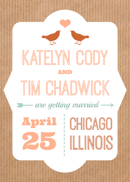 graphic design for a type-savvy wedding invitation