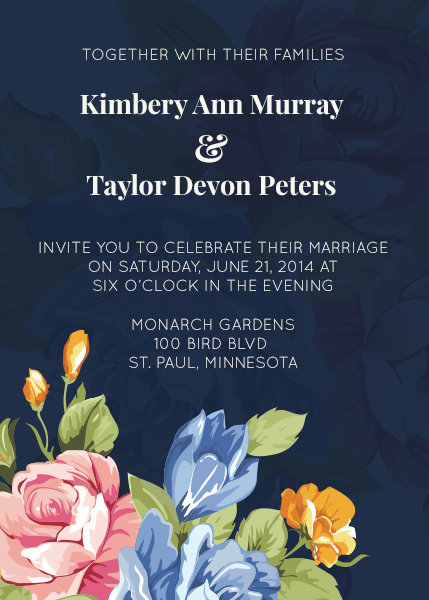 design for a floral wedding invitation